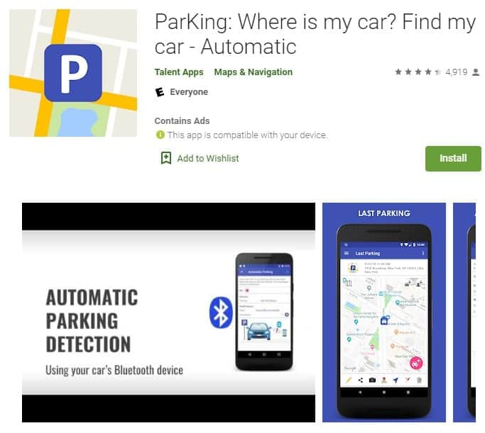 Screenshot of ParKing.