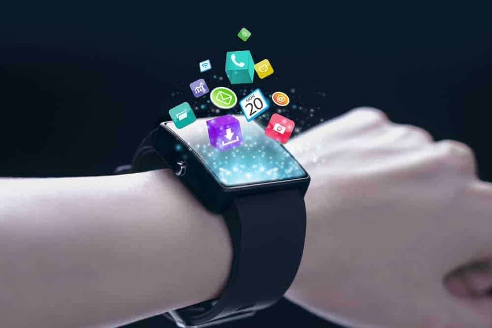Smartwatch oozing with app icons.