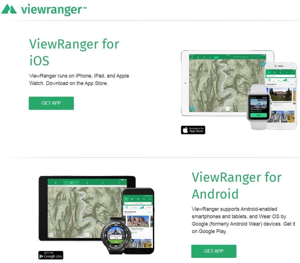Screenshot of Viewranger.