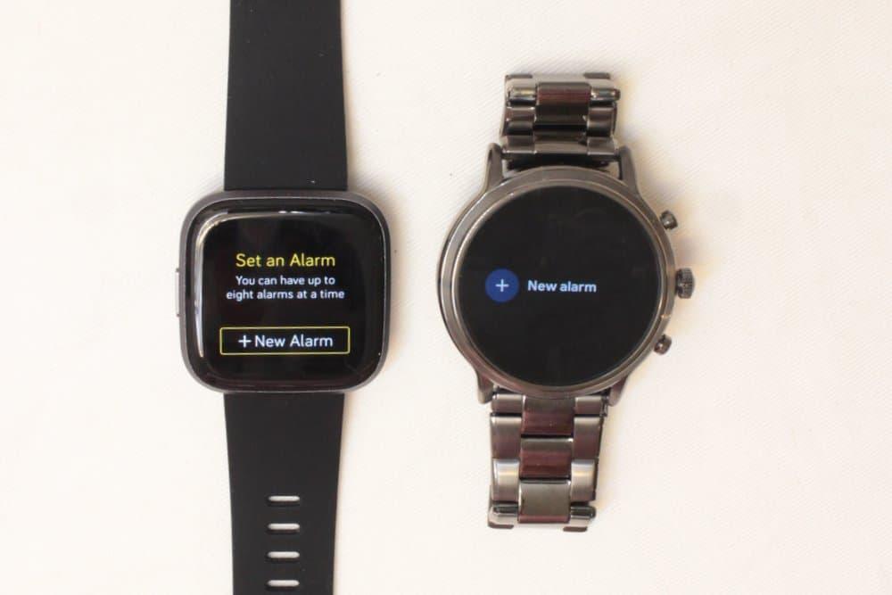 Fitbit Versa 2 vs Fossil Gen 5 alarms