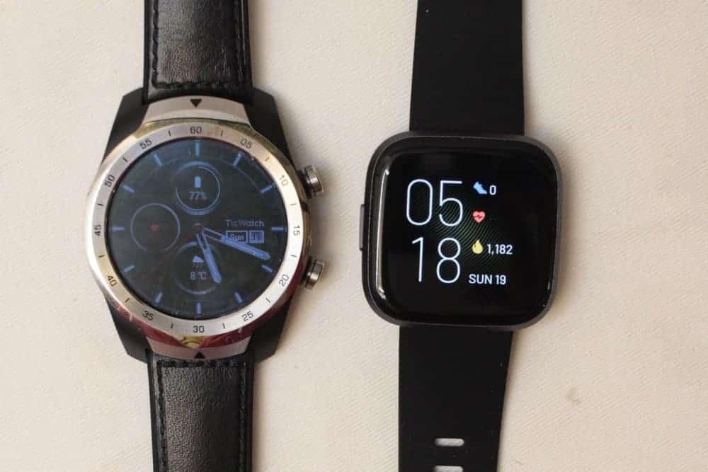 TicWatch Pro vs Fitbit Versa 2