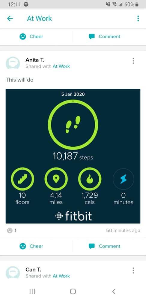 Fitbit Versa 2 social network