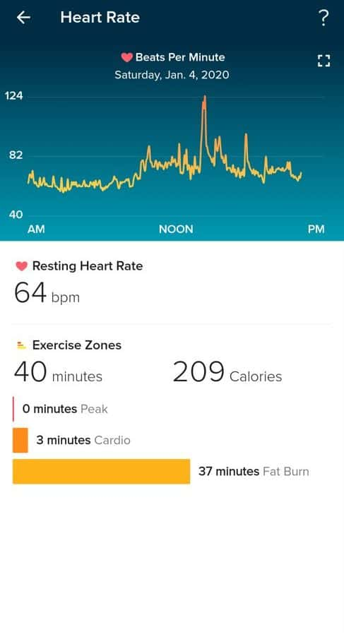 fitbit versa 2 app heart rate