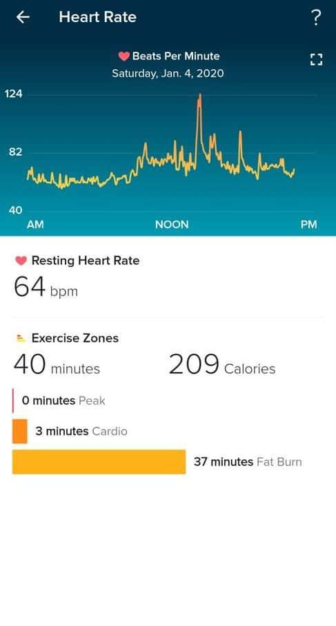 fitbit versa 2 app heart rate