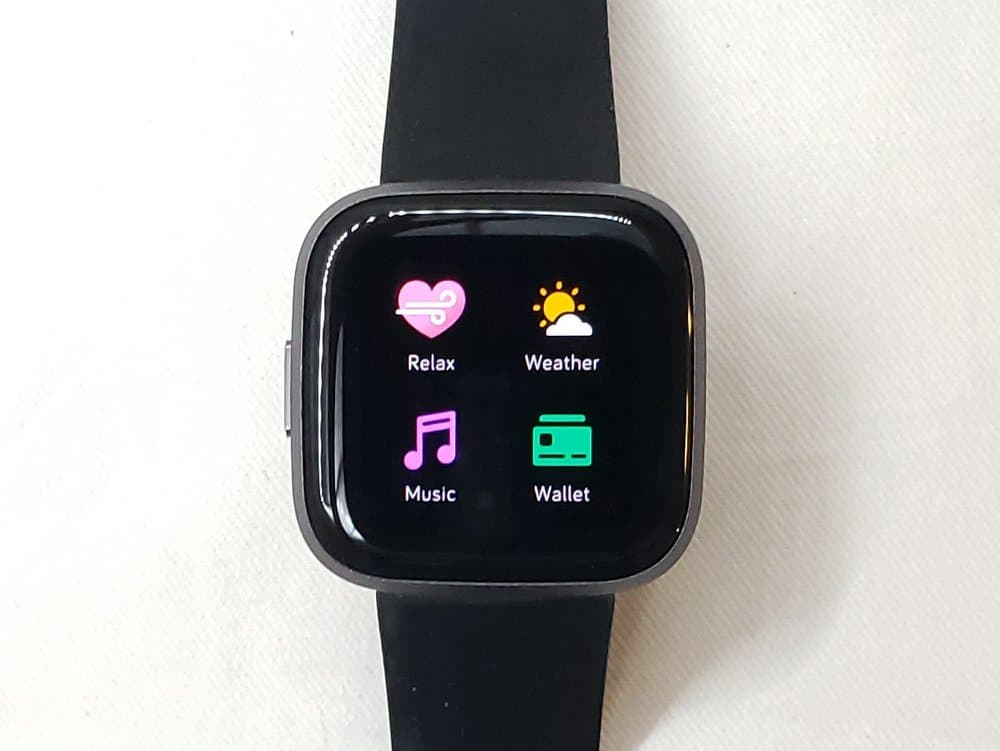 Fitbit Versa 2 second app menu