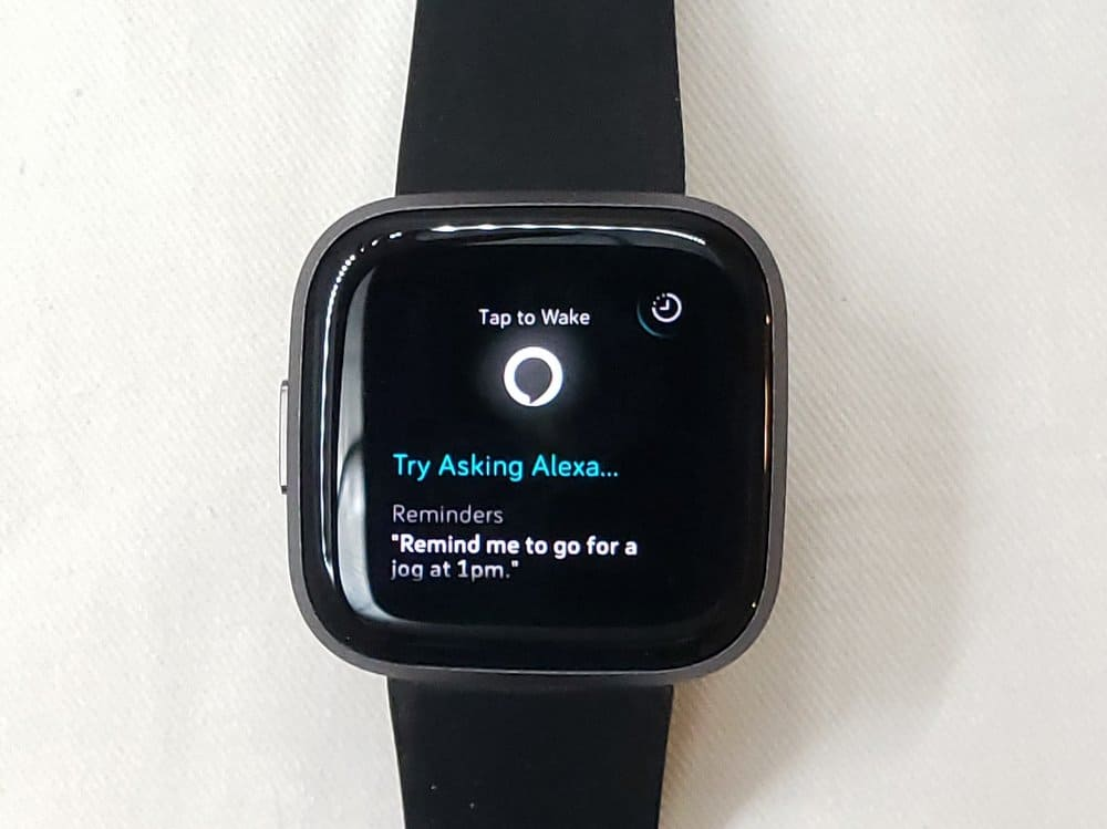 Fitbit Versa 2 Alexa speech to text