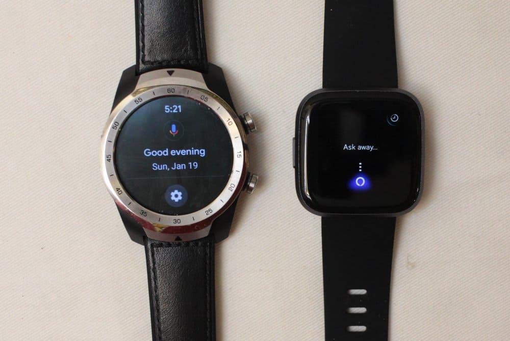 fitbit versa 2 vs ticwatch pro voice control