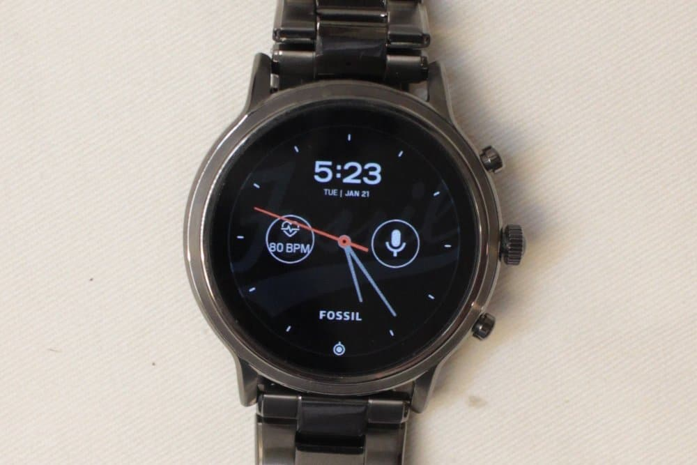 Fossil Gen 5 Carlyle main screen