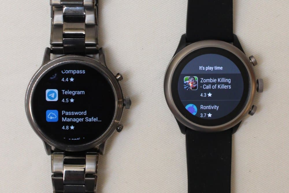 Fossil Gen 5 Carlyle vs Fossil Sport Google Play apps