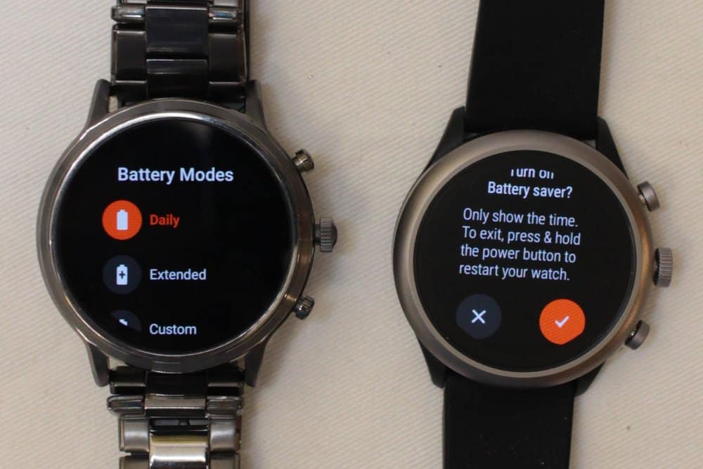 Fossil Gen 5 Carlyle vs Fossil Sport Battery life