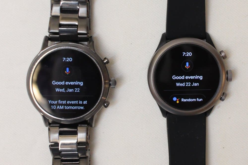 Fossil Gen 5 Carlyle vs Fossil Sport Google Assistant
