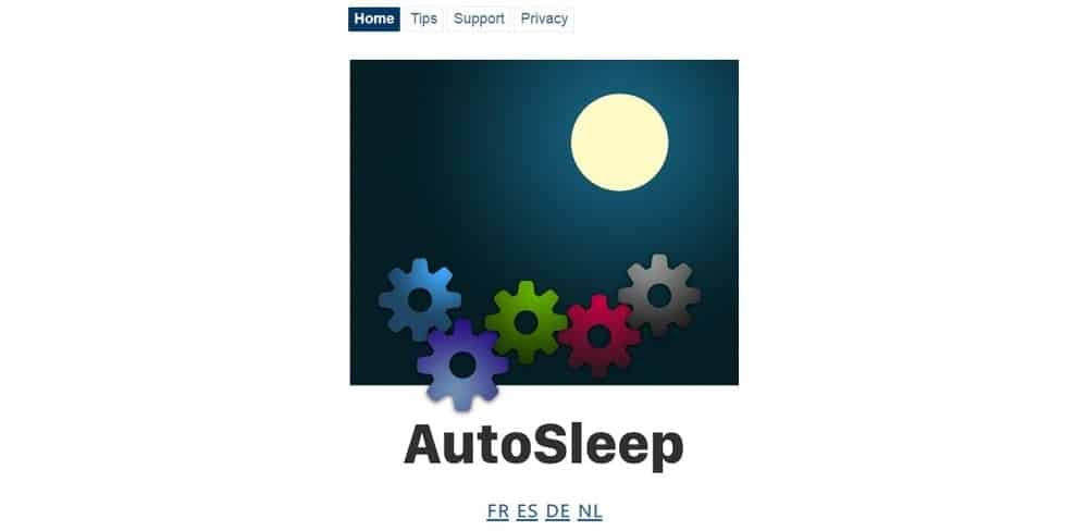 Screenshot of the Autosleep Tracker app.