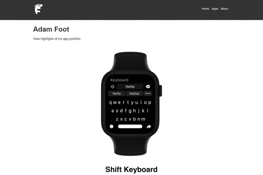 Shift App homepage screenshot