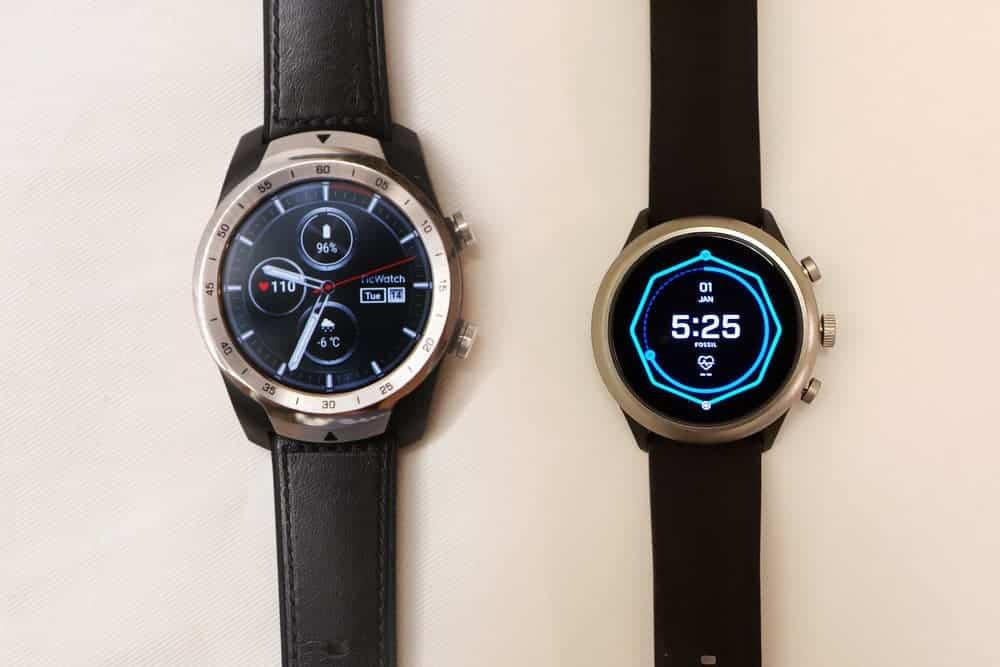 TicWatch Pro vs Fossil Sport Smartwatch