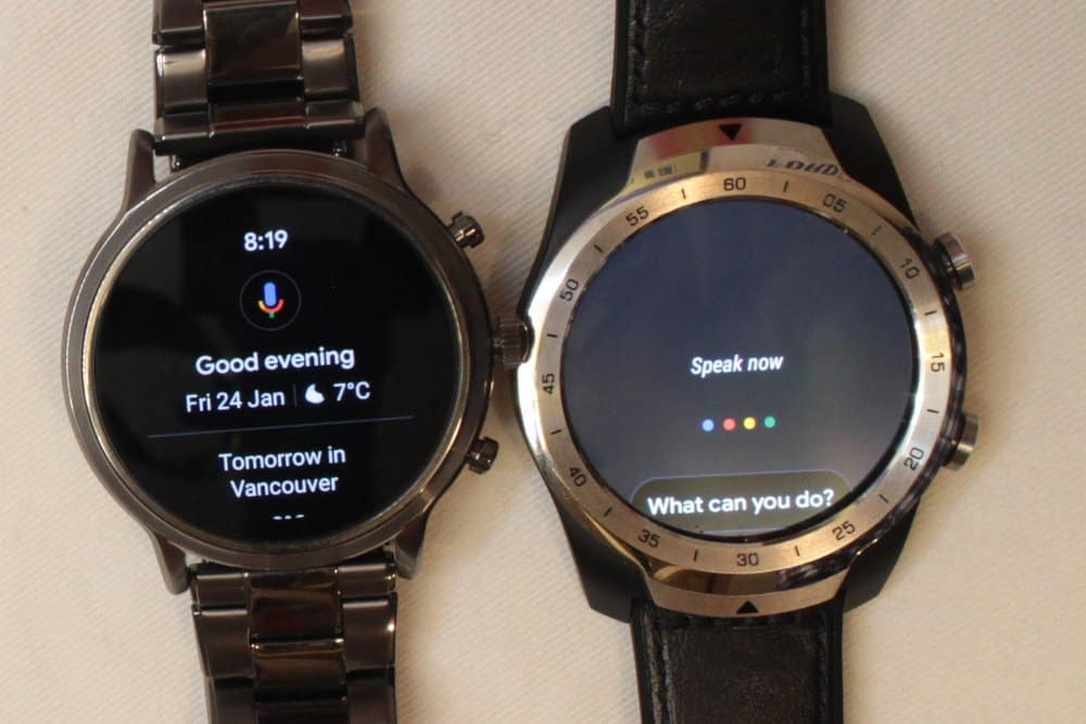Ticwatch Pro and Fossil Gen 5 Carlyle Google Assistant