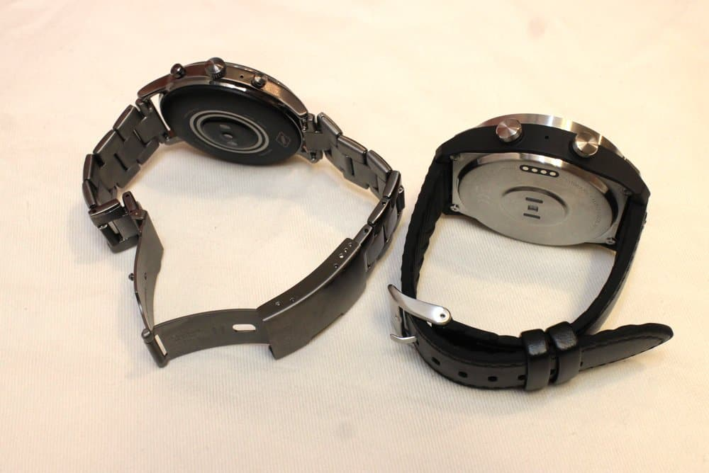 fossil carlyle vs ticwatch pro rear