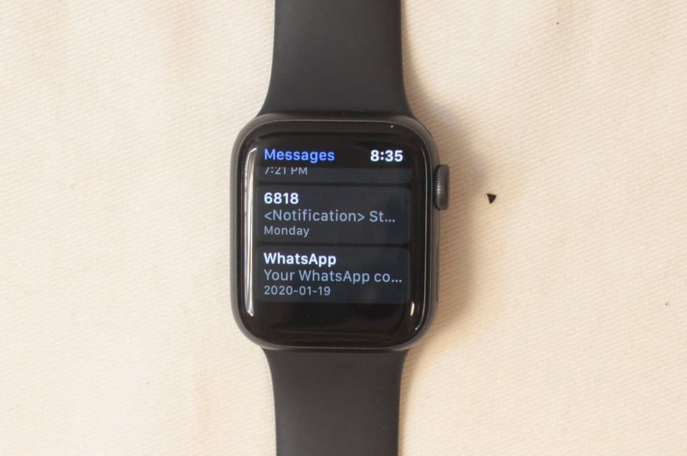 apple watch message log
