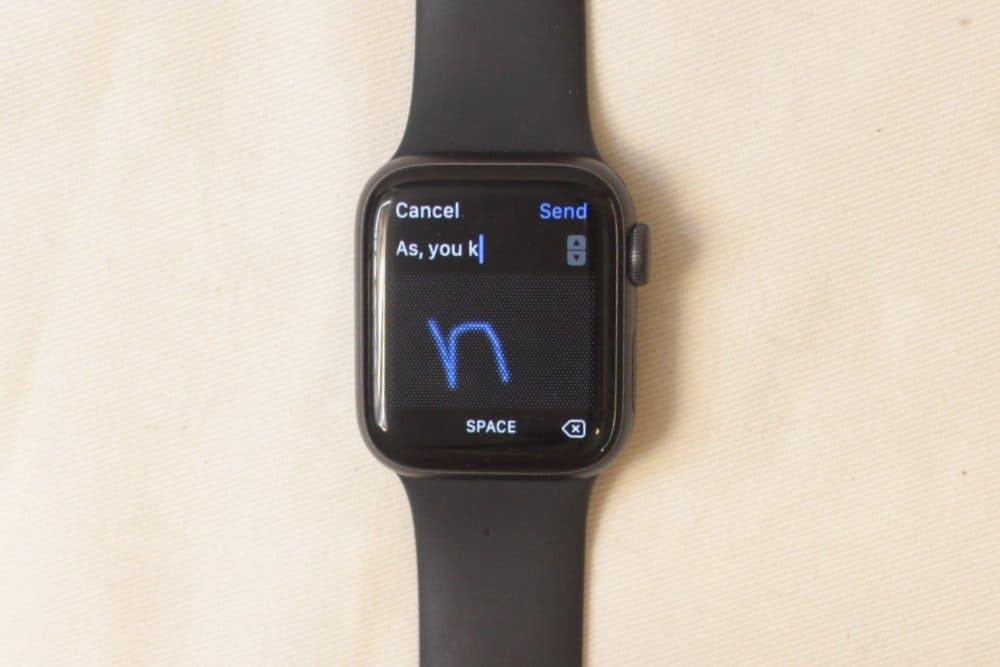 apple watch series 5 scribble