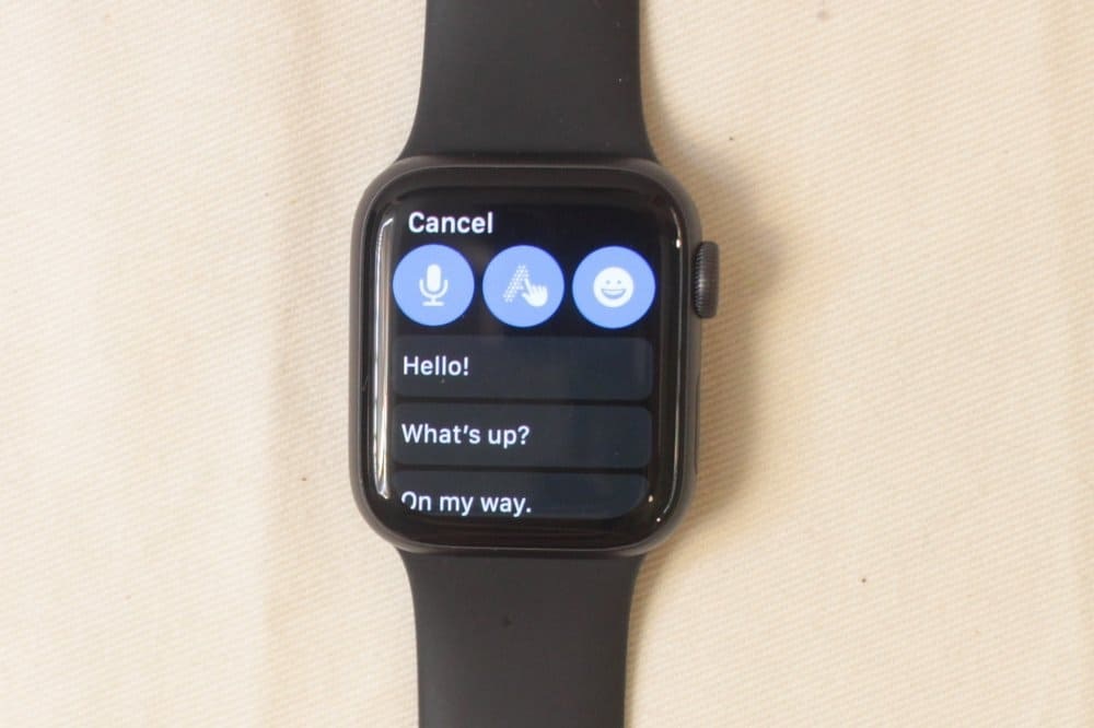 apple watch series 5 reply to message