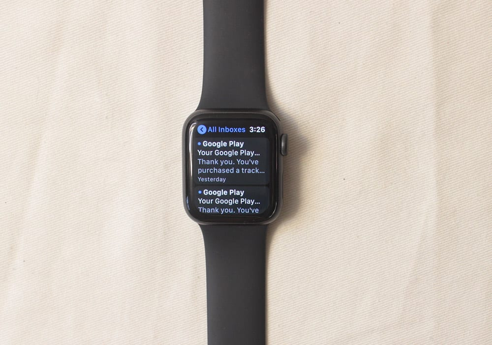apple watch 5 email