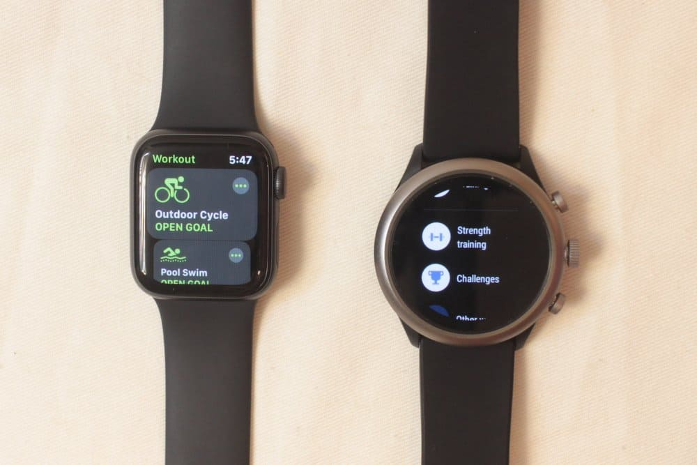 apple watch series 5 vs fossil sport smartwatch workout app