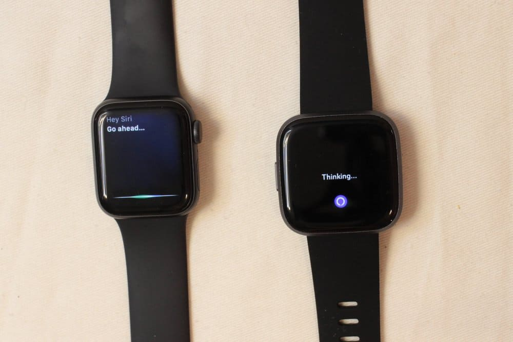 apple watch series 5 fitbit versa 2 alexa siri