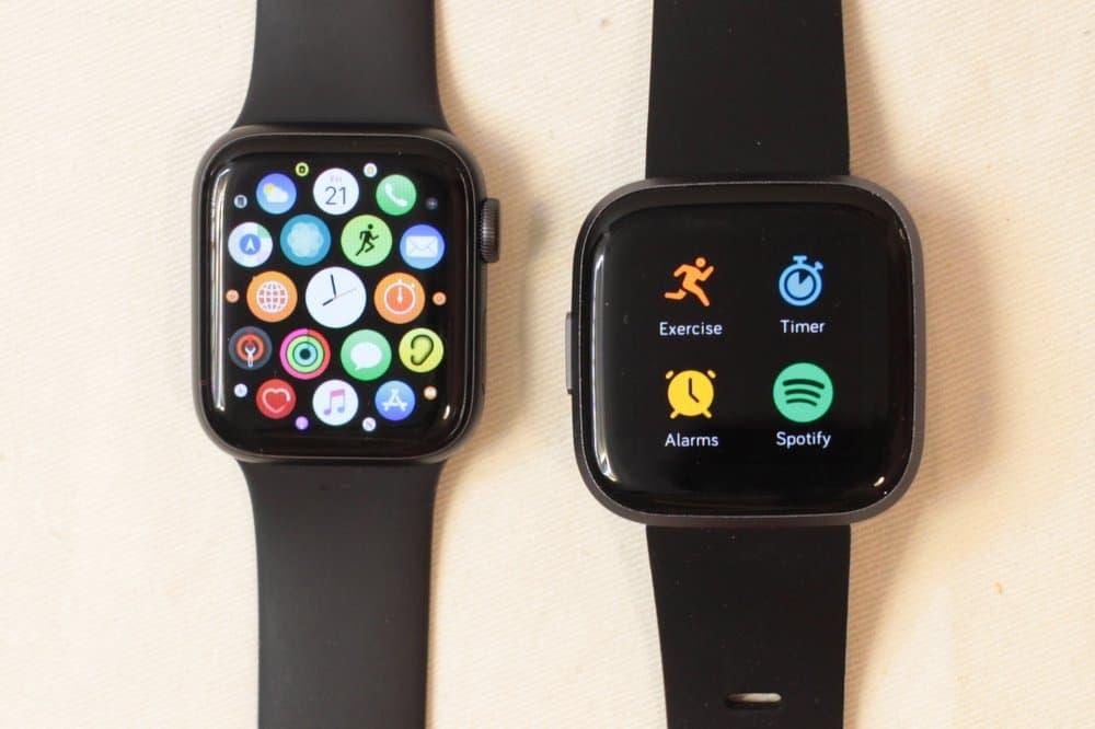 apple watch series 5 fitbit versa 2 apps