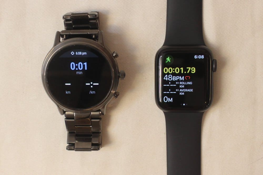 fossil gen 5 carlyle vs apple watch series 5 workout tracking mode