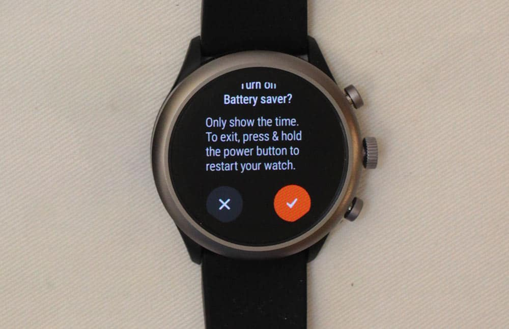 fossil sport smartwatch battery saver