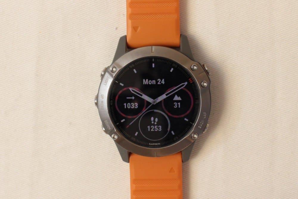 garmin fenix 6 sapphire main watch face