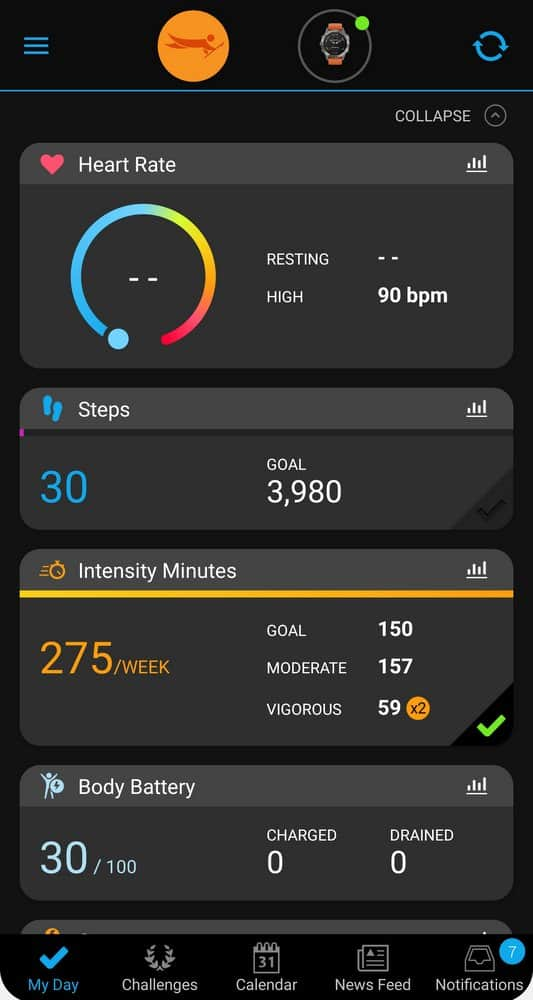 garmin fenix 6 connect app