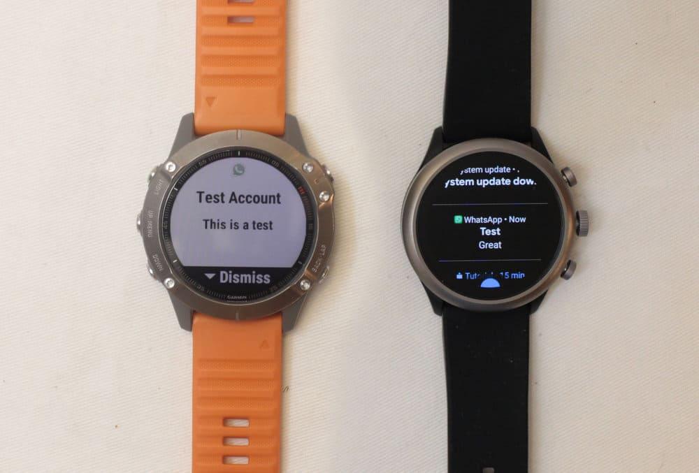 Garmin Fenix 6 vs Fossil Sport Smartwatch texting