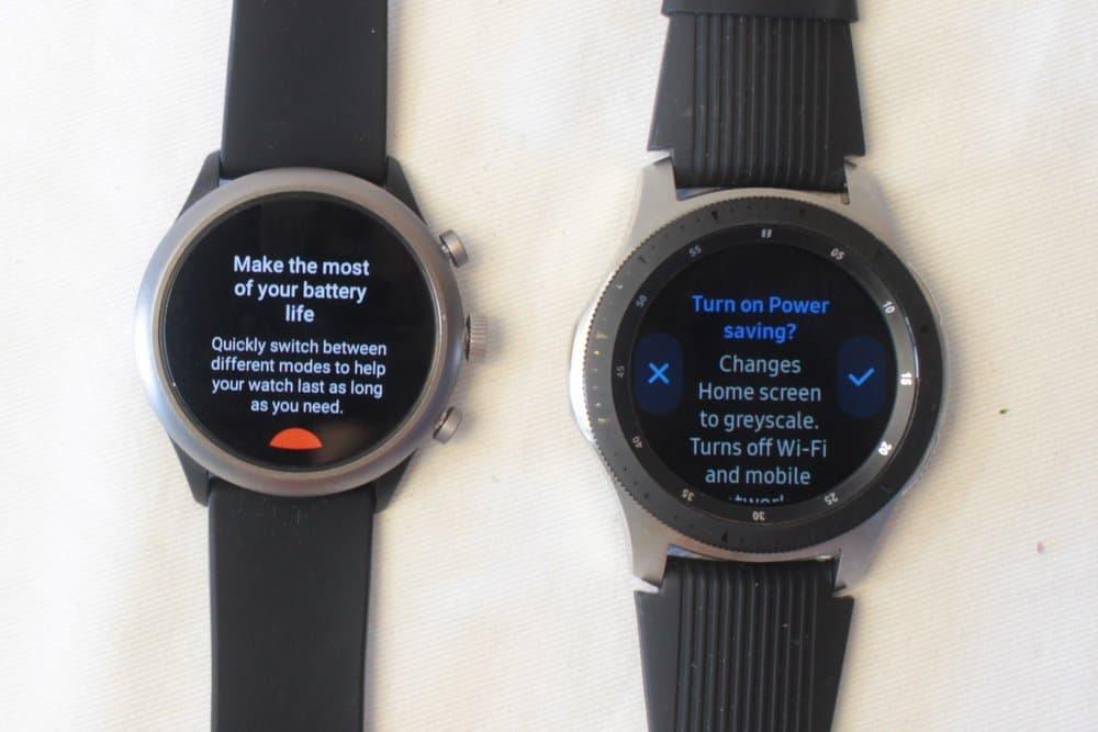 fossil sport galaxy watch battery saver