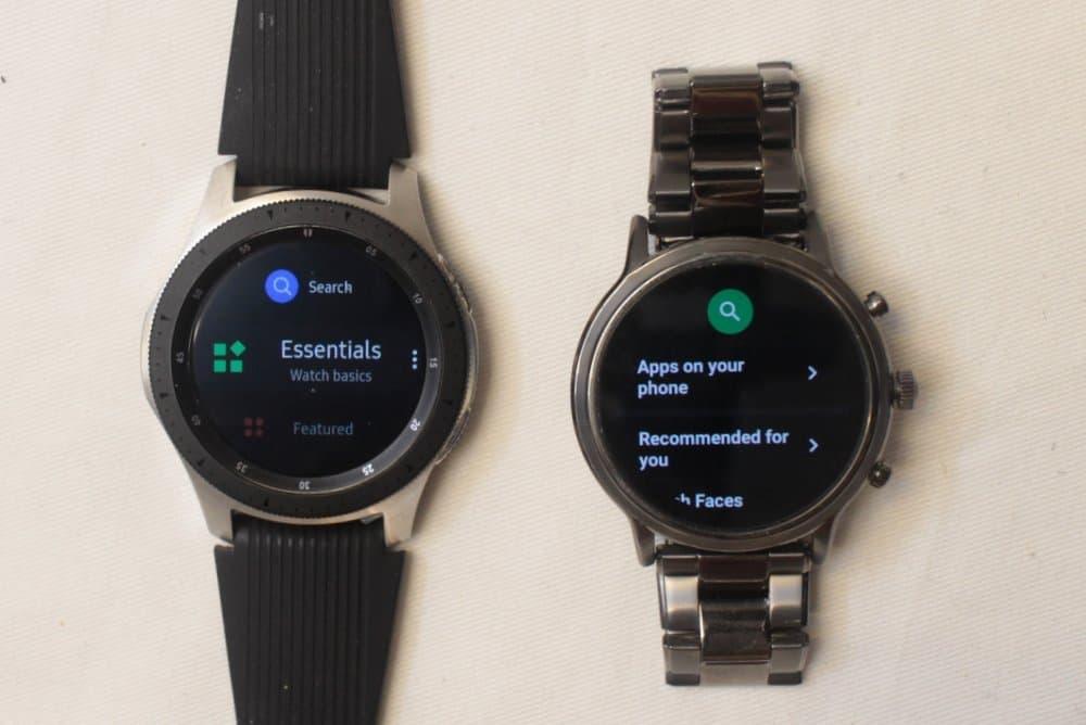 Samsung Galaxy Watch vs Fossil Gen 5 Carlyle apps