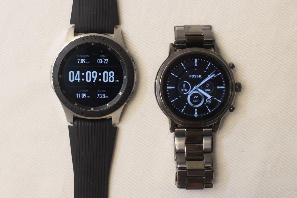 Samsung Galaxy Watch vs Fossil Gen 5 Carlyle main watch face