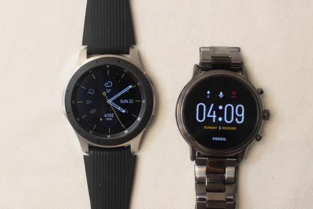 Samsung Galaxy Watch vs Fossil Gen 5 Carlyle watch face