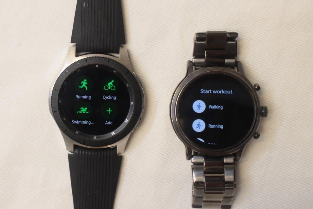 Samsung Galaxy Watch vs Fossil Gen 5 Carlyle workout