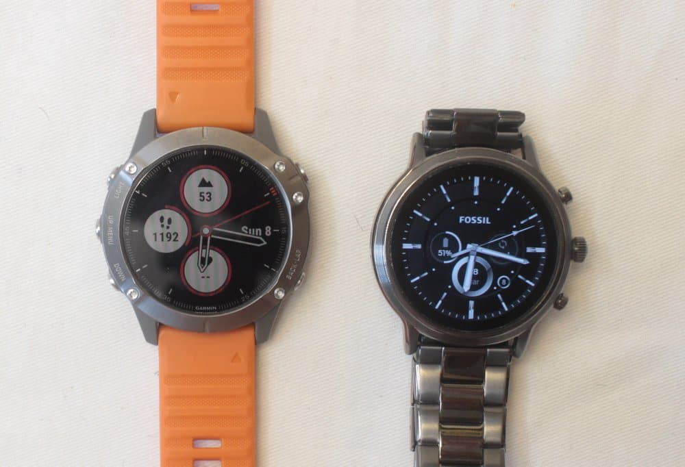 garmin fenix 6 fossil gen 5 carlyle analog watch face