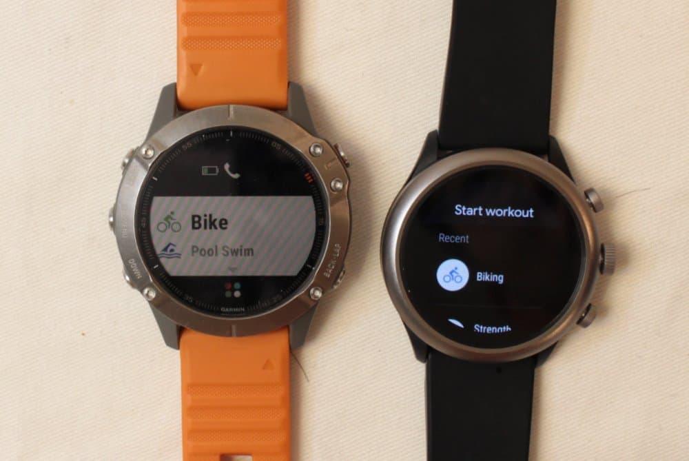 Garmin Fenix 6 vs Fossil Sport Smartwatch workout
