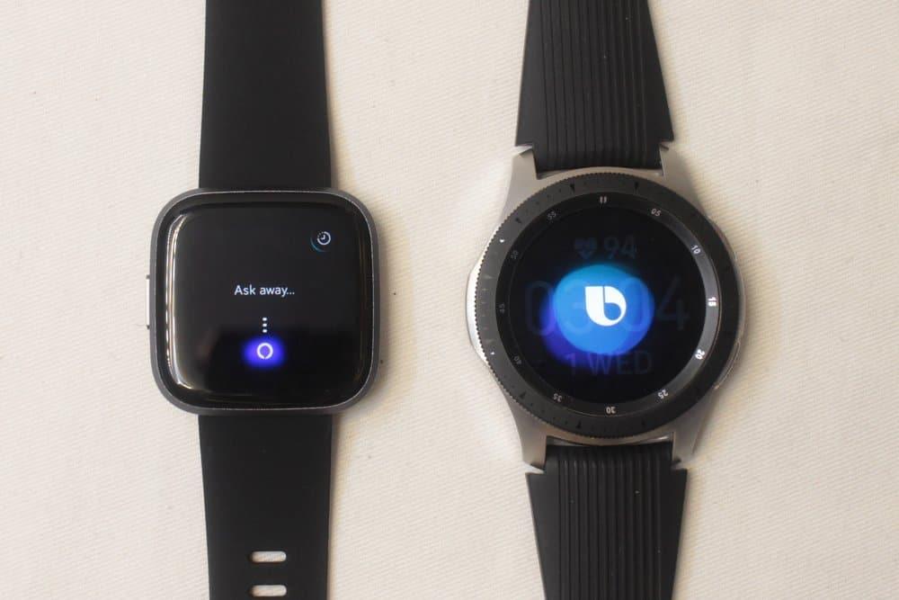 galaxy watch vs fitbit versa 2 bixby and alexa