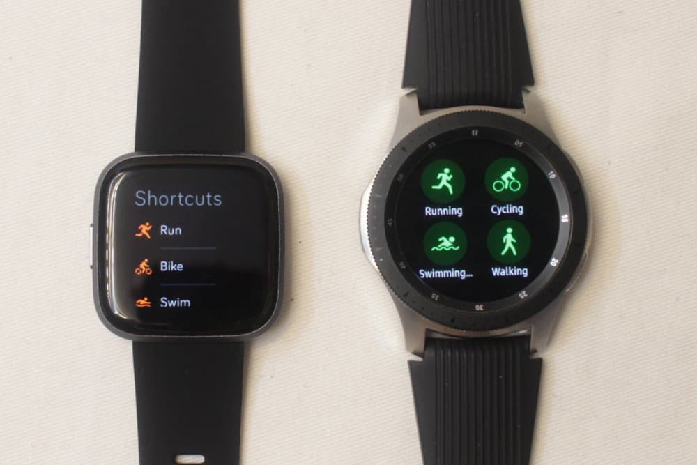 galaxy watch vs fitbit versa 2 exercise