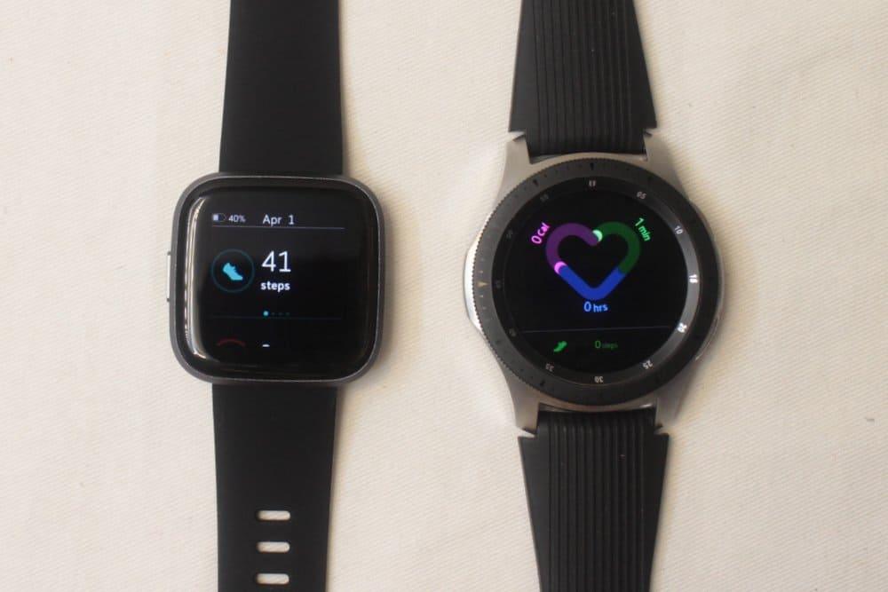 galaxy watch vs fitbit versa 2 fitness tracking