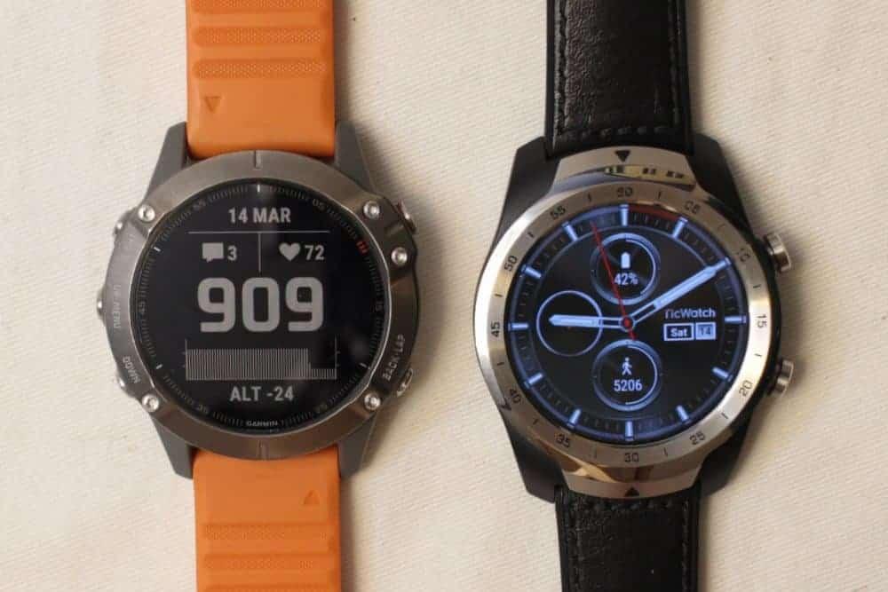 Garmin Fenix 6 Ticwatch Pro