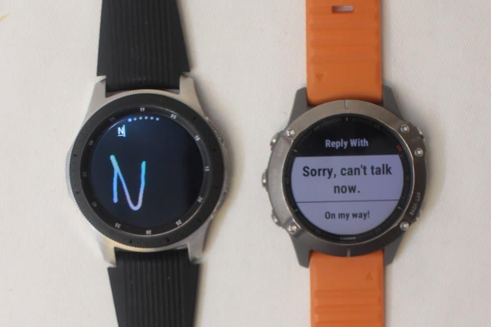 samsung galaxy watch vs garmin fenix 6 reply to message