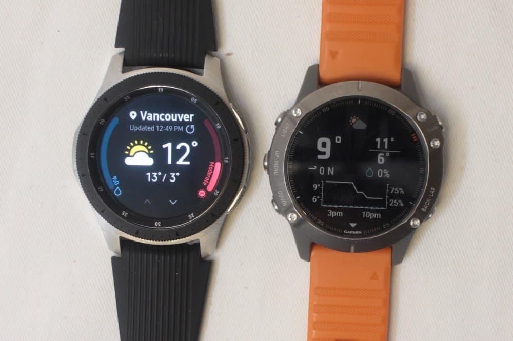samsung galaxy watch vs garmin fenix 6 weather
