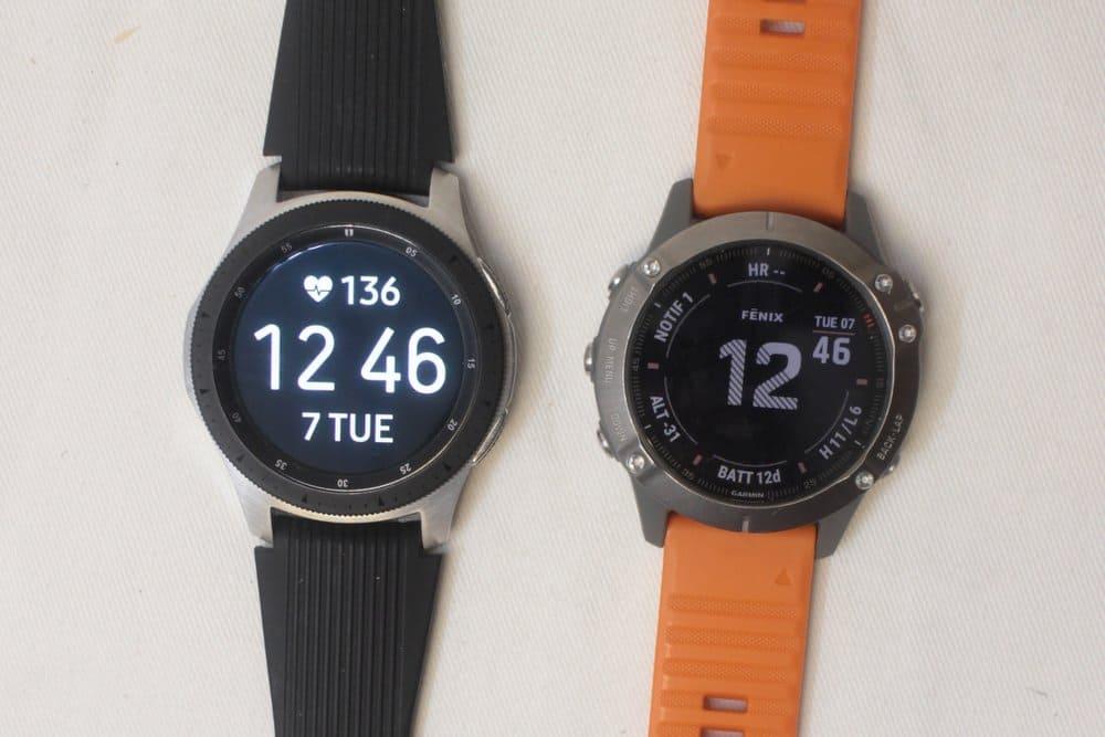 samsung galaxy watch vs garmin fenix 6 main screen