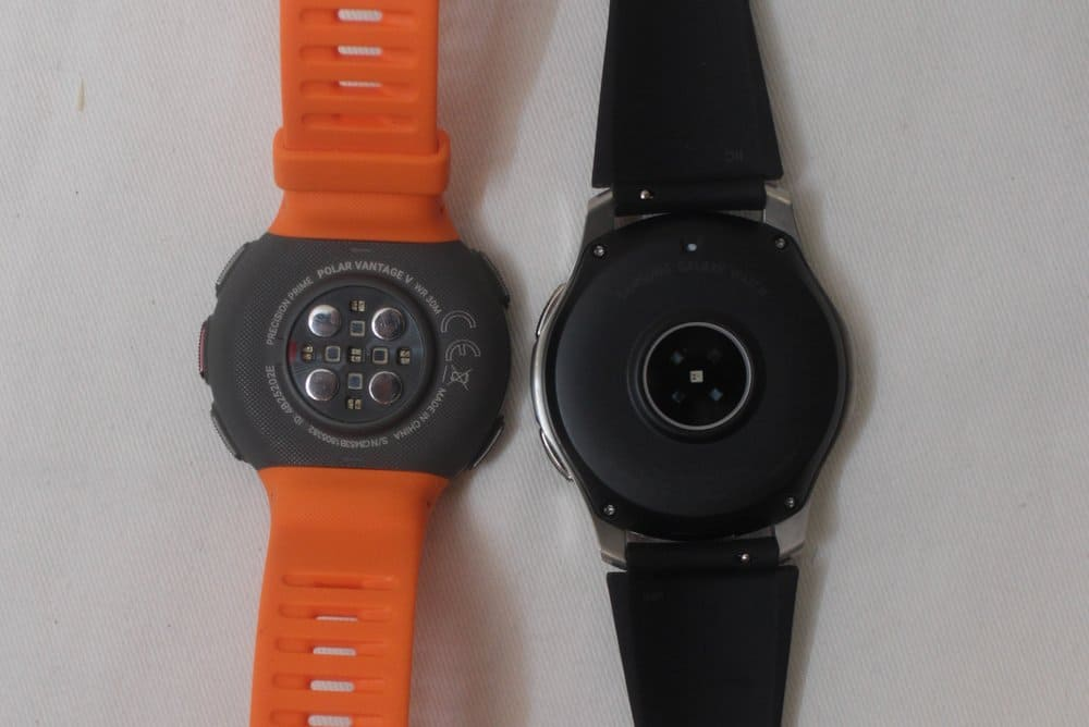 samsung galaxy watch vs polar vantage v heart rate
