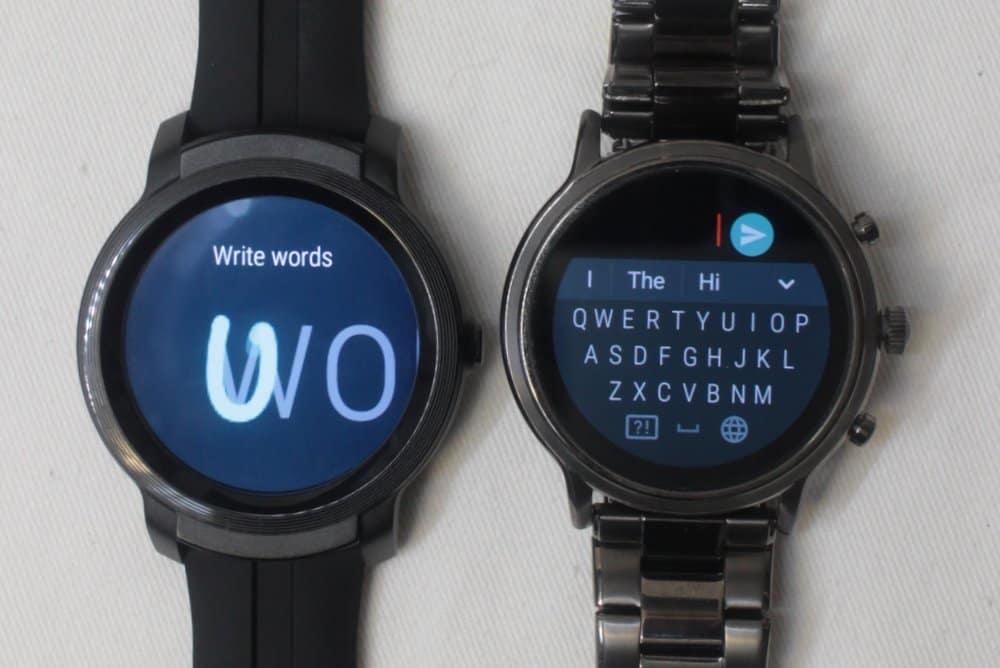 ticwatch e2 vs fossil gen 5 carlyle input text