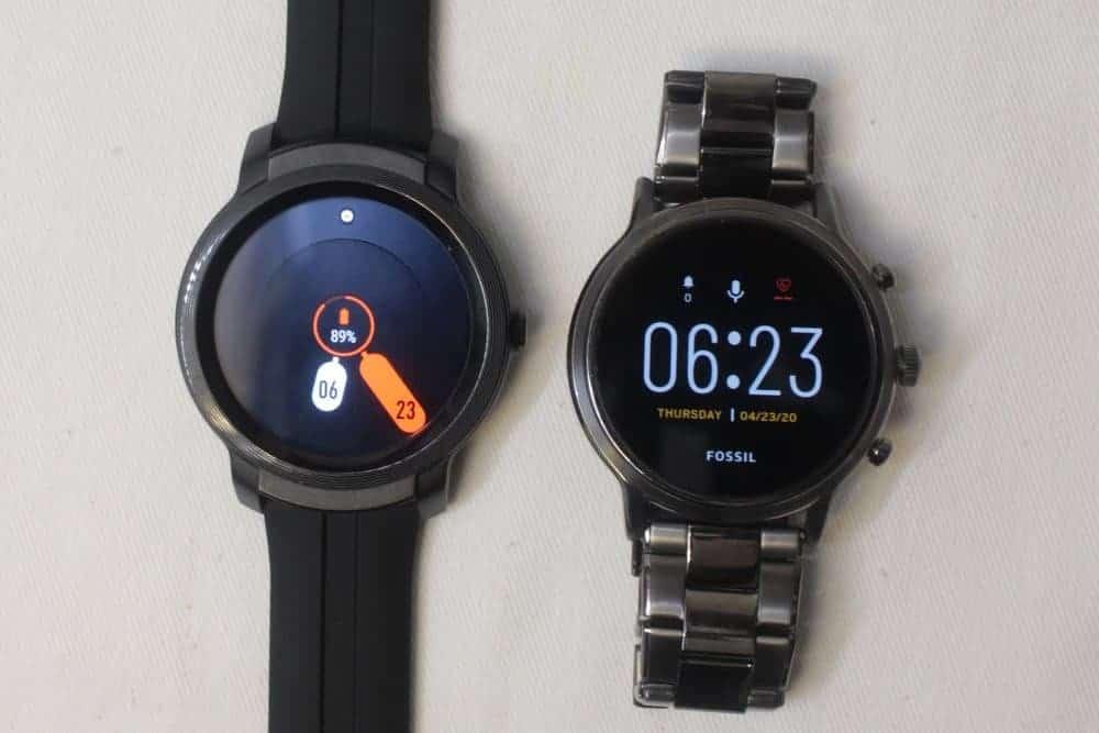 Ticwatch E2 vs Fossil Gen 5 Carlyle