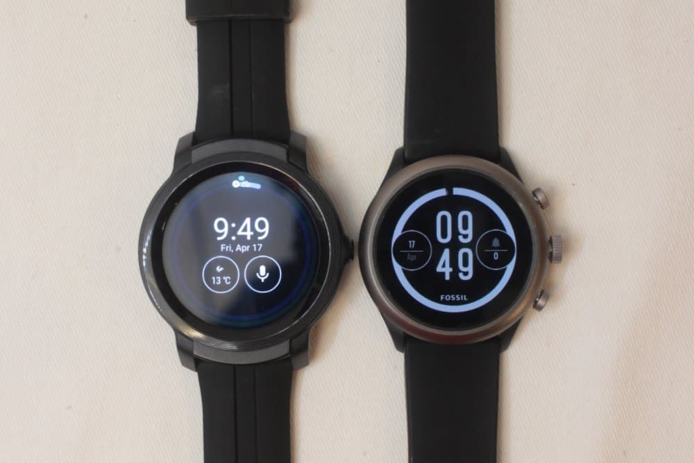 ticwatch e2 fossil sport main screen